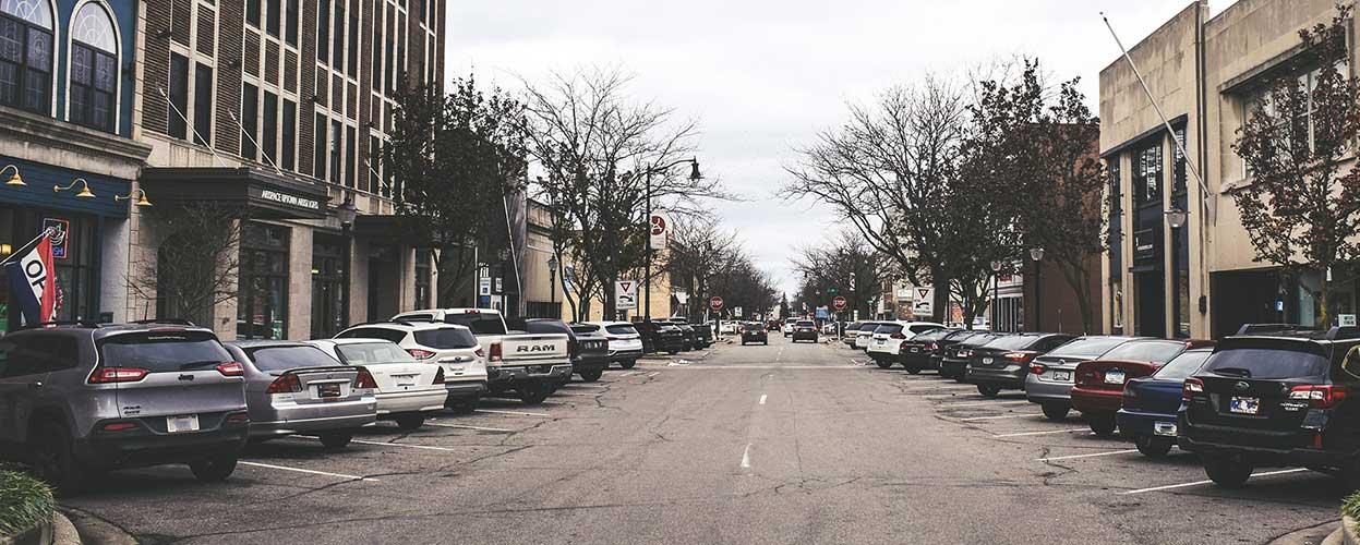 Downtown Michigan City on Franklin Street