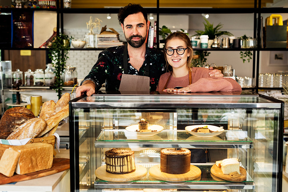 Small business bakery owners