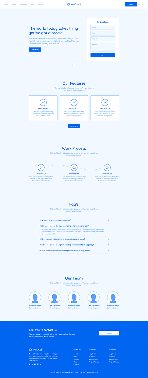 Web design wireframe and mockup