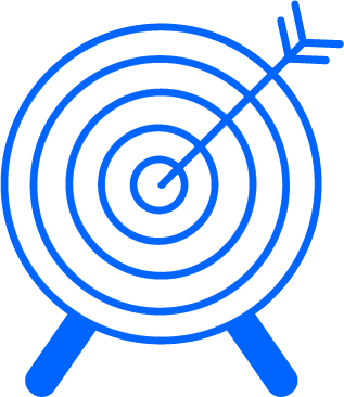 Marketing strategy bullseye icon