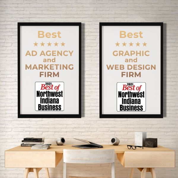 2021 best northwest indiana web design and marketing award