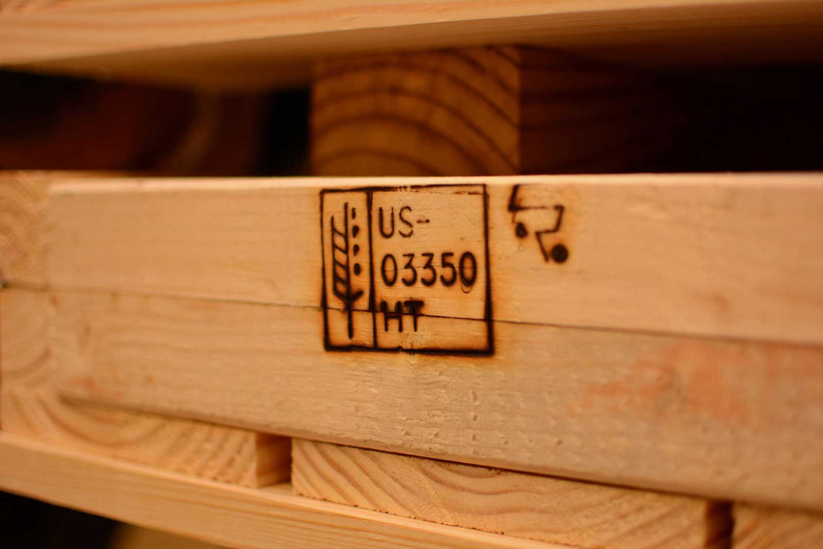 Product photography wood pallet